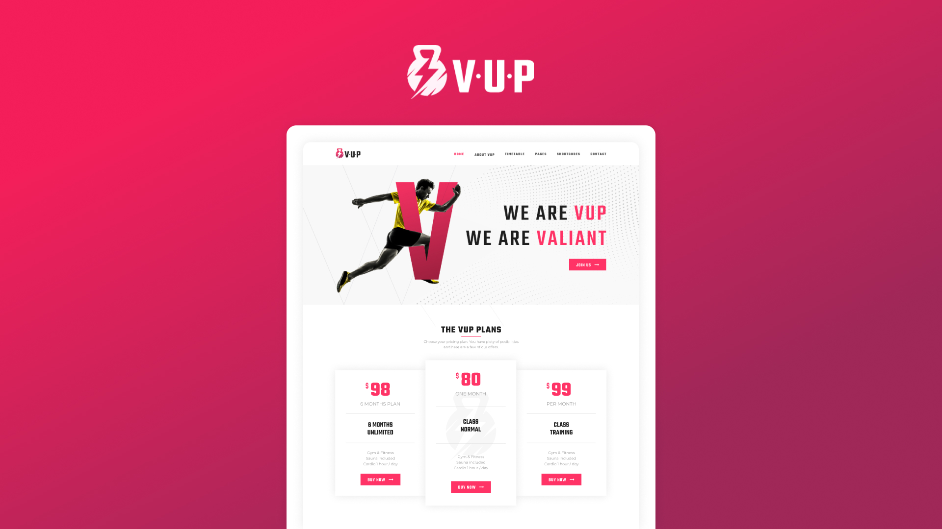 VUP WordPress Theme